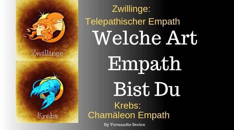 Arten von Empathen und Sternzeichen