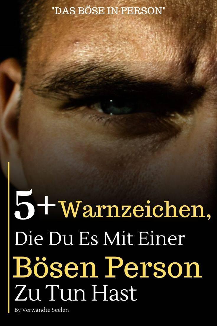 warnzeichen bösen person-das böse in person