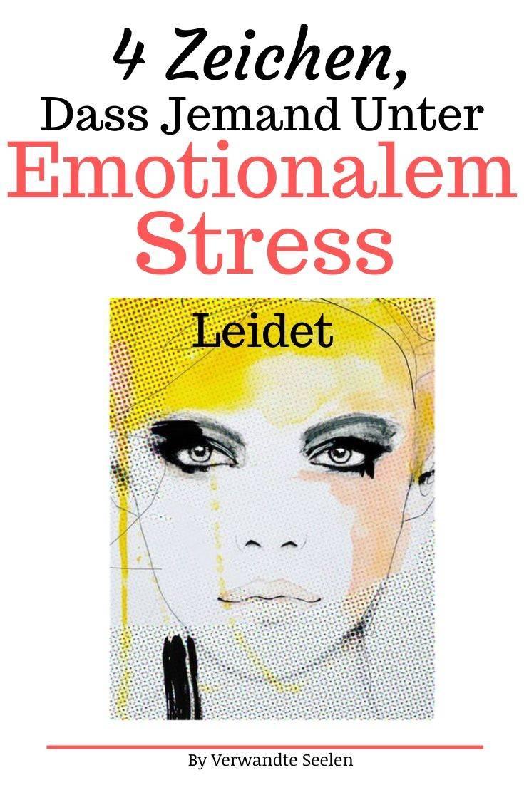 emotionaler stress-jemand unter emotionalem Stress leidet